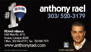 "Click ""SaveAs"" to Save my Business Card - Anthony Rael - RE/MAX Alliance - 303.520.3179"