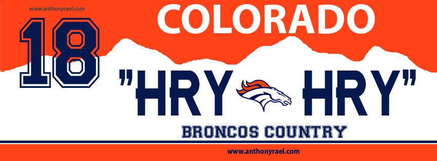 Broncos wall decal
