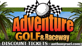 Discounted Tickets to Adventure Golf & Raceway - compliments of Anthony Rael, Denver REALTOR - REMAX Alliance