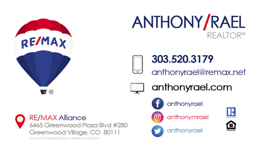 Experienced Honest & Trustworthy REMAX Denver Colorado Real Estate Agents & Relocation Experts : Homes for Sale in Arvada, Aurora, Brighton, Boulder, Broomfield, Erie, Evergreen, Golden, Highlands Ranch, Lakewood, Littleton, Parker, Thornton, Westminster : #JustCallAnts Anthony Rael, Denver Colorado REMAX Realtors